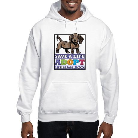 Dachshund Rescue Hooded Sweatshirt