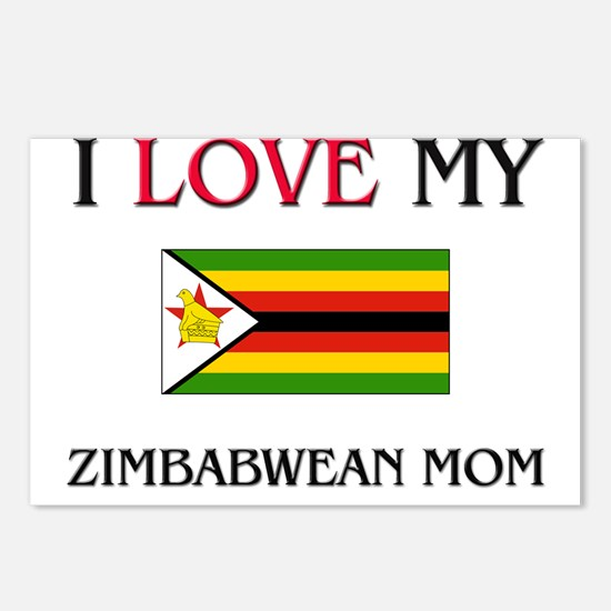 I Love My Zimbabwean Mom Postcards (Package of 8)