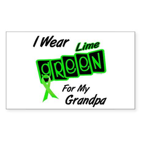 I Wear Lime Green For My Grandpa 8 Sticker (Rectan