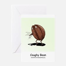 Coughy Bean Get Well Greeting Card