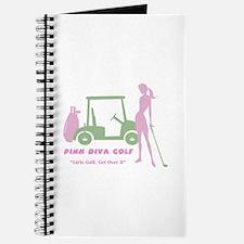 Pink Diva Golf Golfer - Journal