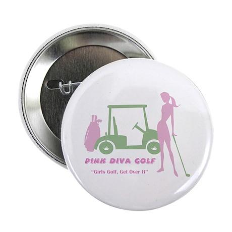 """Pink Diva Golf - 2.25"""" Button"""