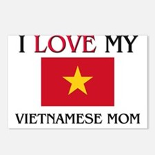 Cute Vietnam women Postcards (Package of 8)