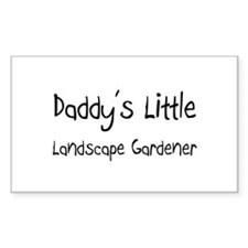 Daddy's Little Landscape Gardener Decal