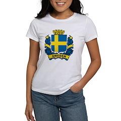 Stylish Sweden Crest Tee