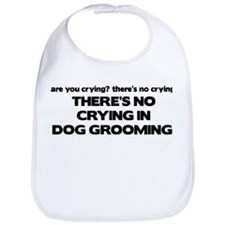 There's No Crying Dog Grooming Bib