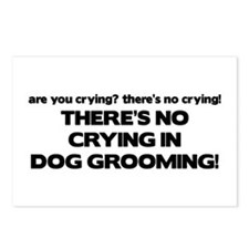There's No Crying Dog Grooming Postcards (Package