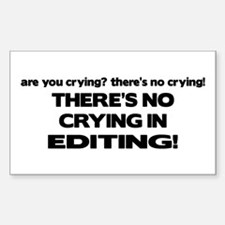 There's No Crying Editing Rectangle Decal