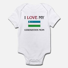 I Love My Uzbekistani Mom Infant Bodysuit