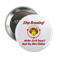"Stop Overpopulation 2.25"" Button"