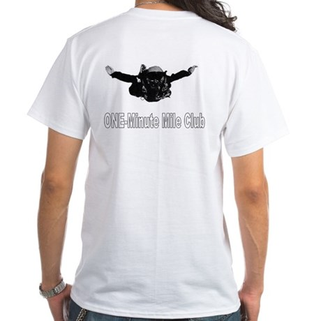 Military Freefall Skydiver White T-Shirt