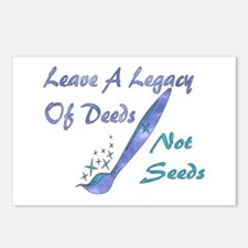 Deeds Not Seeds Postcards (Package of 8)