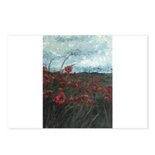 Stormy Poppies Postcards (Package of 8)