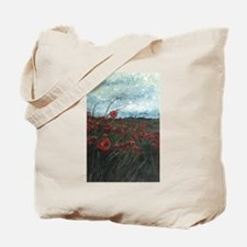 Stormy Poppies Tote Bag