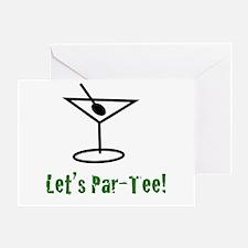 Let's Par-Tee - Greeting Card