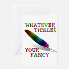 FANCY FEATHER Greeting Card