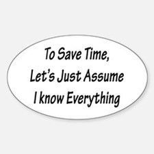 Save Time Oval Decal