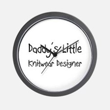 Daddy's Little Knitwear Designer Wall Clock