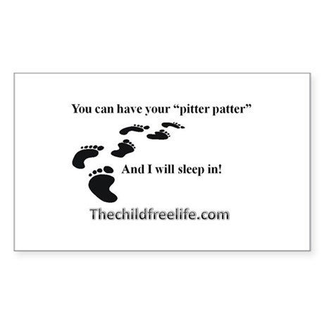 Child Free Rectangle Sticker