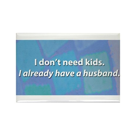 Child Free Rectangle Magnet