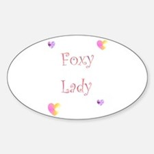Foxy Lady Oval Decal