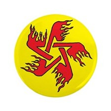 """Flaming Star 3.5"""" Button"""