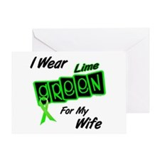 I Wear Lime Green For My Wife 8 Greeting Card