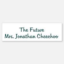 The Future Mrs. Jonathan Che Bumper Bumper Bumper Sticker