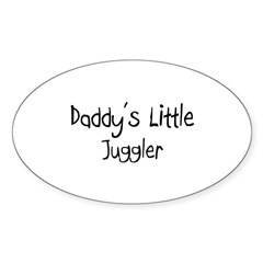 Daddy's Little Juggler Oval Decal
