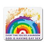 GOD RAINBOW SEX Mousepad