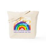 GOD RAINBOW SEX Tote Bag
