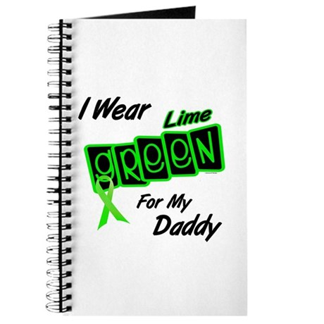 I Wear Lime Green For My Daddy 8 Journal