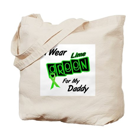 I Wear Lime Green For My Daddy 8 Tote Bag