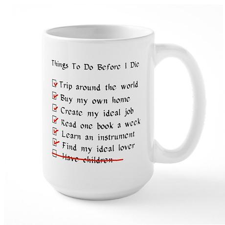 Child-Free Checklist Large Mug