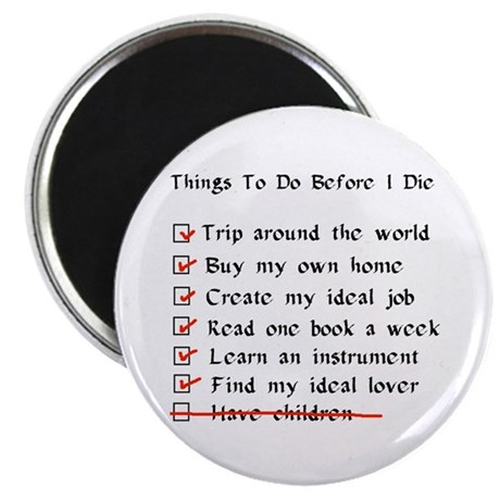 "Child-Free Checklist 2.25"" Magnet (100 pack)"