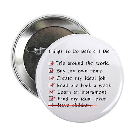 """Child-Free Checklist 2.25"""" Button"""