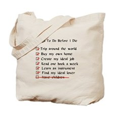 Child-Free Checklist Tote Bag