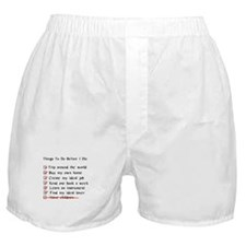 Child-Free Checklist Boxer Shorts