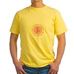 Pink Ribbon -Circle II Yellow T-Shirt