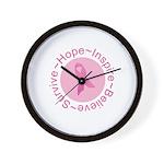 Pink Ribbon -Circle II Wall Clock