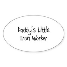 Daddy's Little Iron Worker Oval Decal