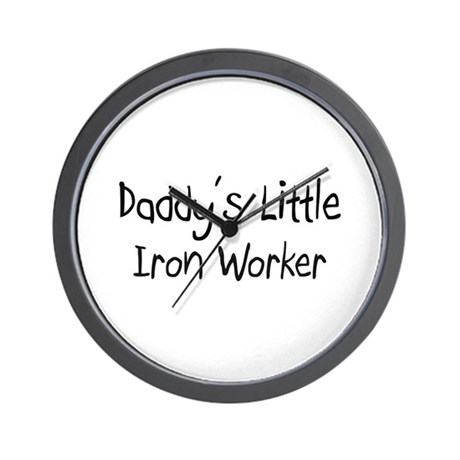 Daddy's Little Iron Worker Wall Clock