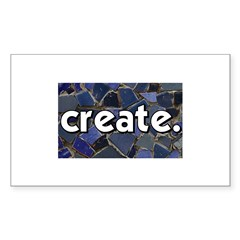 Create - Mosaic Tile Rectangle Sticker 50 pk)