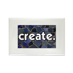 Create - Mosaic Tile Rectangle Magnet (100 pack)