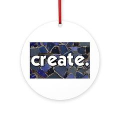 Create - Mosaic Tile Ornament (Round)
