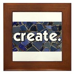 Create - Mosaic Tile Framed Tile