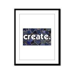 Create - Mosaic Tile Framed Panel Print