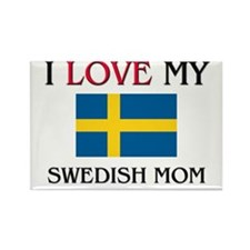 I Love My Swedish Mom Rectangle Magnet (10 pack)