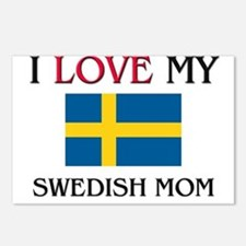 I Love My Swedish Mom Postcards (Package of 8)