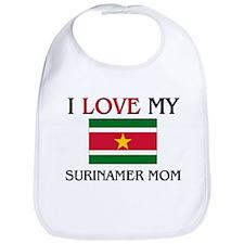 I Love My Surinamer Mom Bib